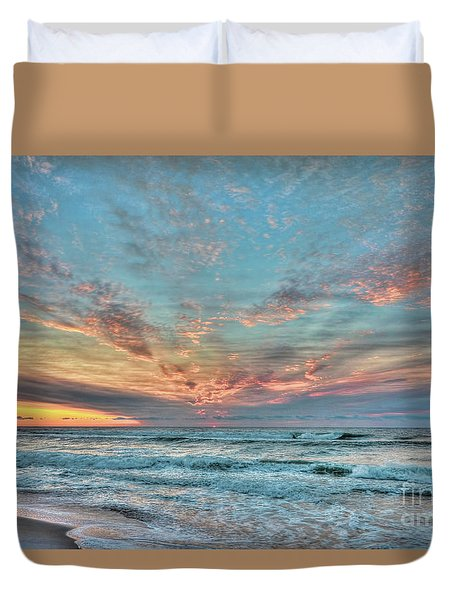 Long Beach Island Sunrise Duvet Cover
