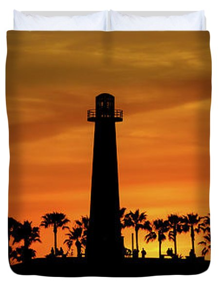 Long Beach Lighthouse Duvet Cover