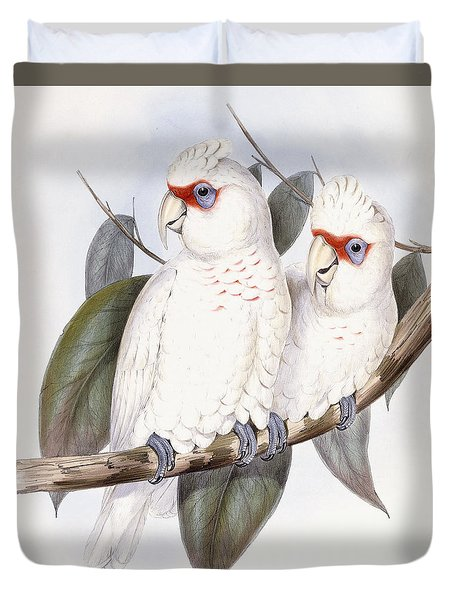 Long-billed Cockatoo Duvet Cover by John Gould