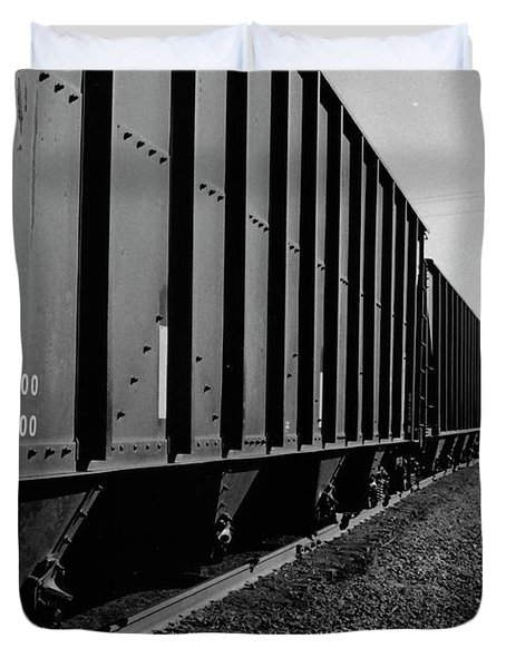 Duvet Cover featuring the photograph Long Black Train by Tara Lynn