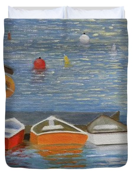 Long Cove Dock Duvet Cover