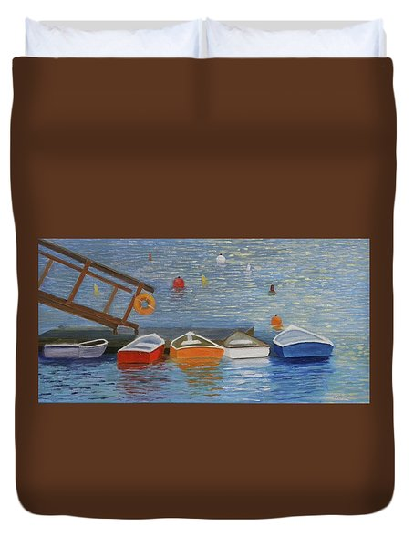 Long Cove Dock Duvet Cover