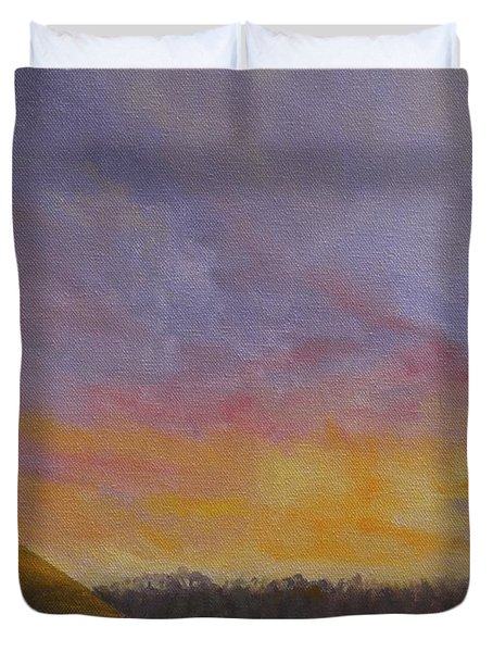 Long Cove Sunrise Duvet Cover