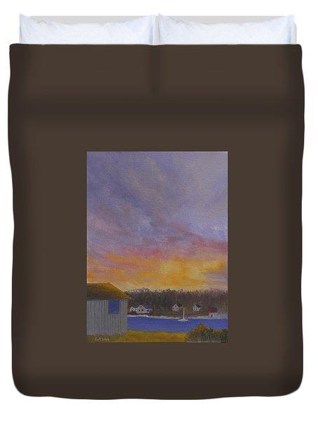 Long Cove Sunrise Duvet Cover