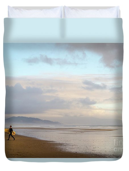 Long Day Surfing Duvet Cover