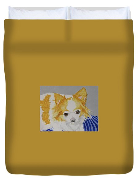 Long-haired Chihuahua Duvet Cover