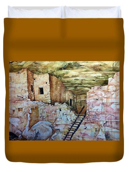 Long House, Mesa Verde National Park Duvet Cover by Lance Wurst