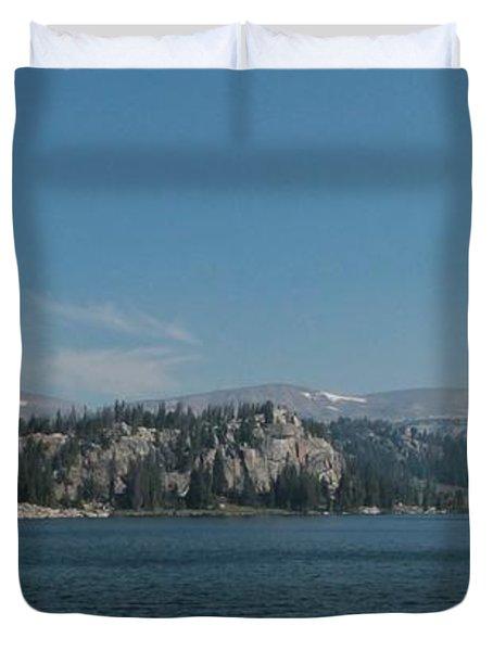 Long Lake Shoshone National Forest Duvet Cover