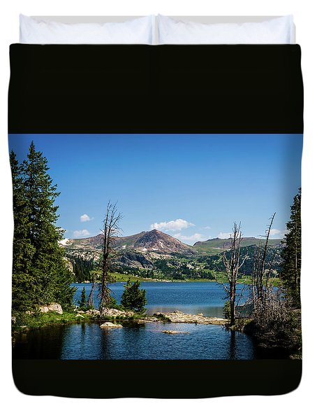 Duvet Cover featuring the photograph Long Lake Wyoming No. 2 by TL Mair