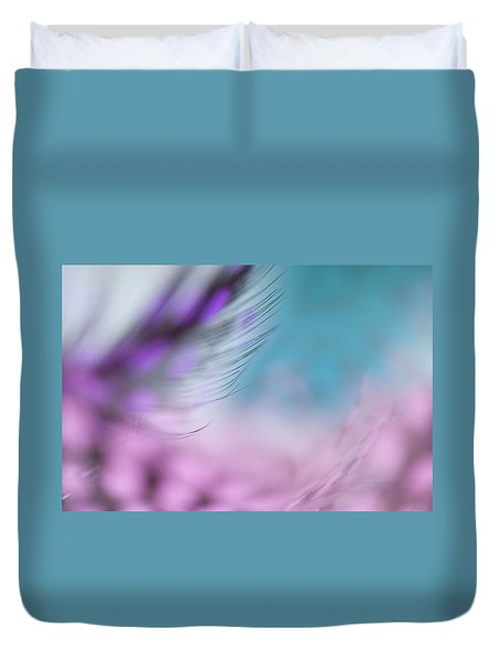 Duvet Cover featuring the photograph Long Lashes. Angels Flight Series by Jenny Rainbow