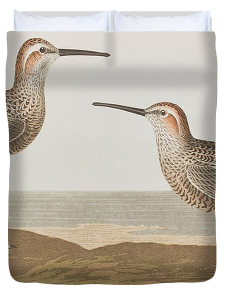 Long-legged Sandpiper Duvet Cover by John James Audubon