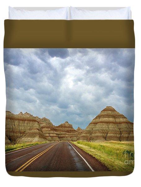 Long Lonesome Highway Duvet Cover