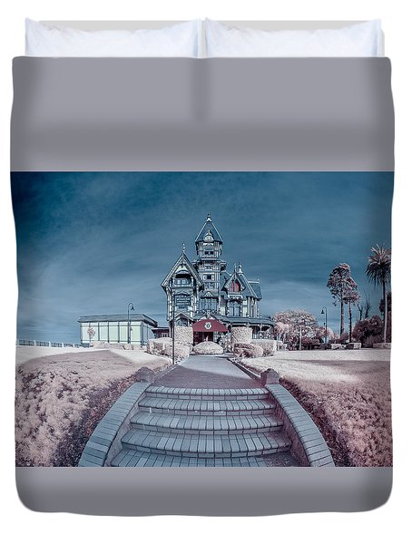 Long Pathway To Carson Mansion Duvet Cover