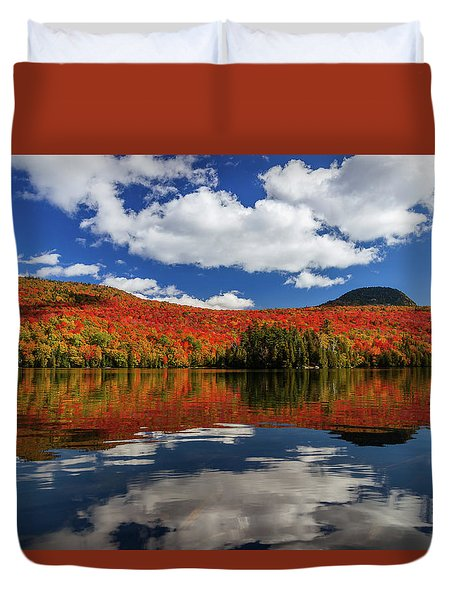 Long Pond And Clouds Duvet Cover