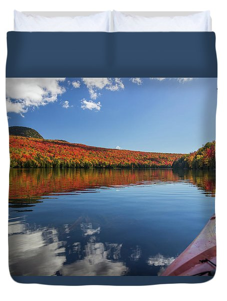 Long Pond From A Kayak Duvet Cover