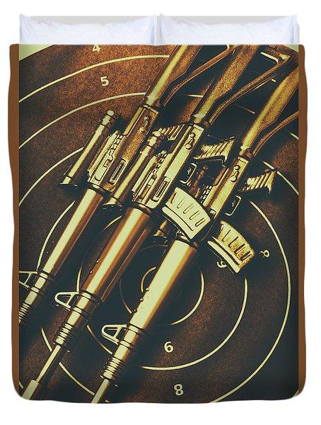 Long Range Tactical Rifles Duvet Cover