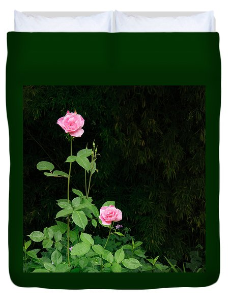 Duvet Cover featuring the photograph Long Stemmed Rose by Jean Noren