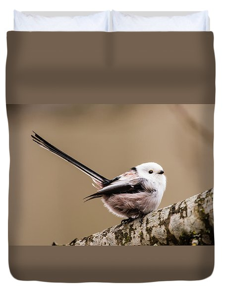 Long-tailed Tit Wag The Tail Duvet Cover by Torbjorn Swenelius