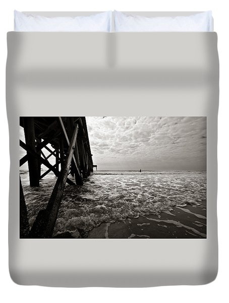 Duvet Cover featuring the photograph Long To Surf by David Sutton