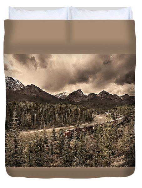 Long Train Running Duvet Cover by John Poon