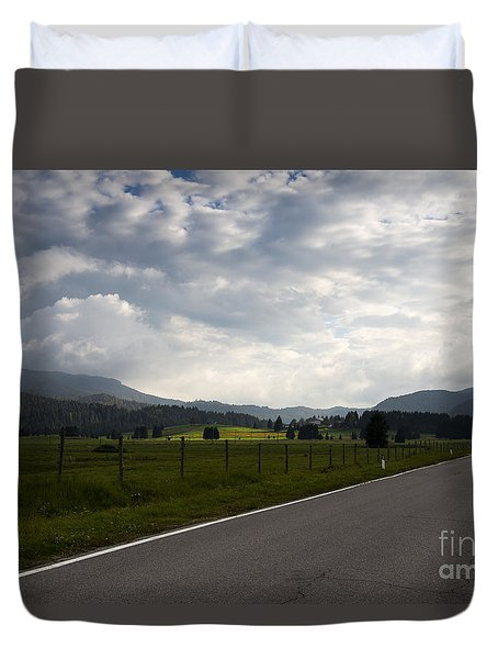 Duvet Cover featuring the photograph Long Way Back by Yuri Santin