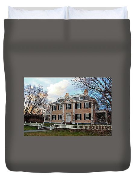 Longfellow House At Sunset Duvet Cover