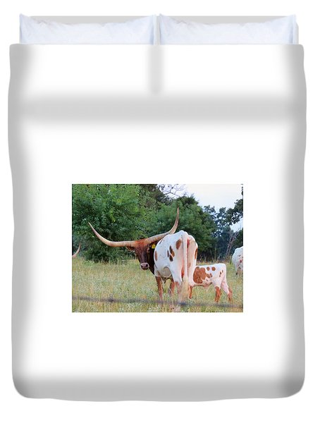 Longhorn Cattle Duvet Cover