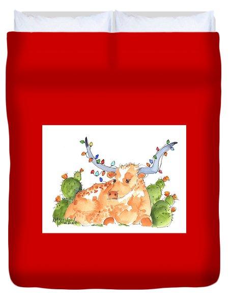 Longhorn Christmas Duvet Cover