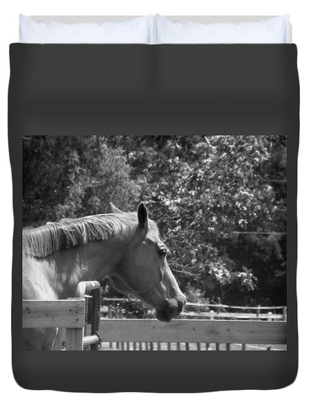 Duvet Cover featuring the photograph Longing by Sandi OReilly