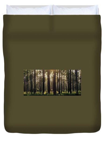 Longleaf Pine Forest Duvet Cover