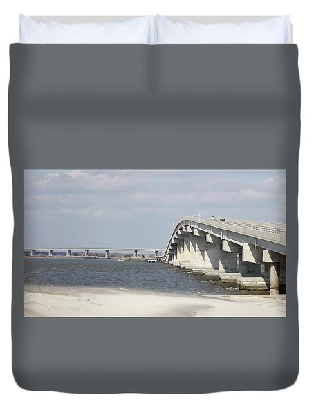 Longport Bridge Duvet Cover by John Wartman
