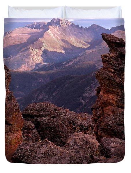 Longs Peak From Rock Cut  Duvet Cover