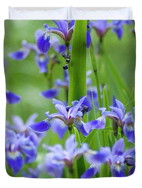 Longwood Garden Flowers Up Close Duvet Cover