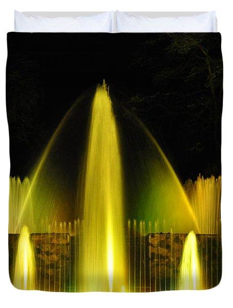 Longwood Garden Nightscape 3 Duvet Cover