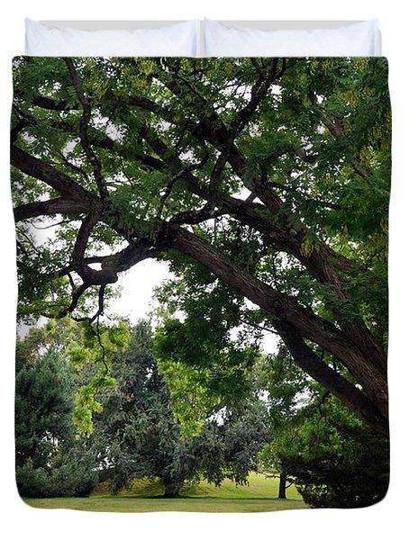 Longwood Gardens Tree Duvet Cover