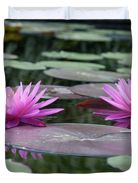 Longwood Gardens - Water Lillies - Chester County Pa Duvet Cover