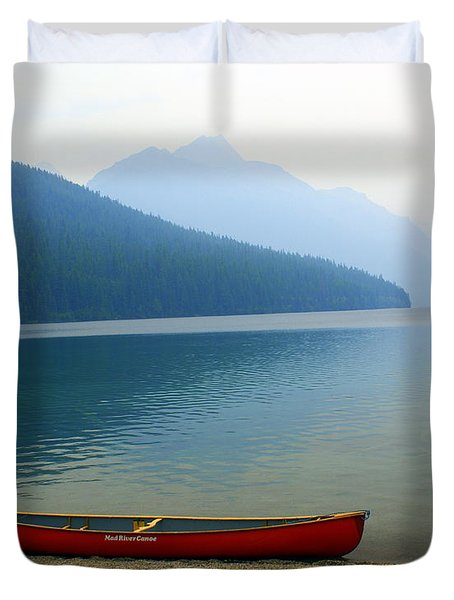 Lonly Canoe Duvet Cover