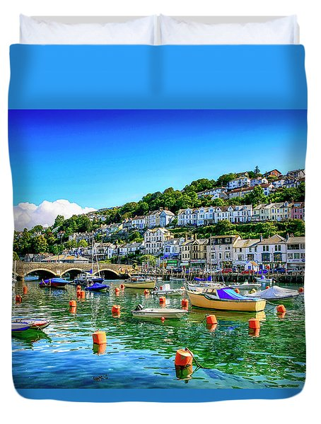 Looe In Cornwall Uk Duvet Cover