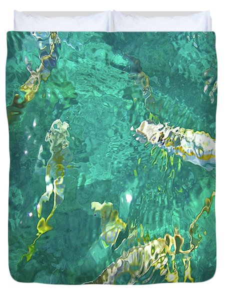 Looe Key Reef Duvet Cover by Charles Harden