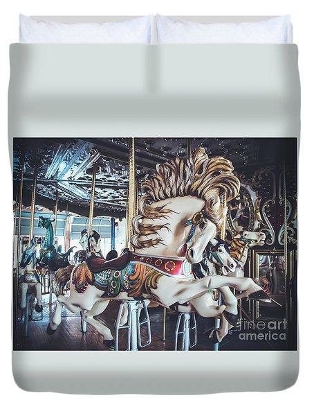 Looff Stallion - Carousel Duvet Cover