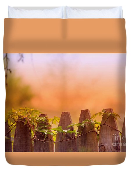 Duvet Cover featuring the photograph Look Beyond The Boundary by Rima Biswas