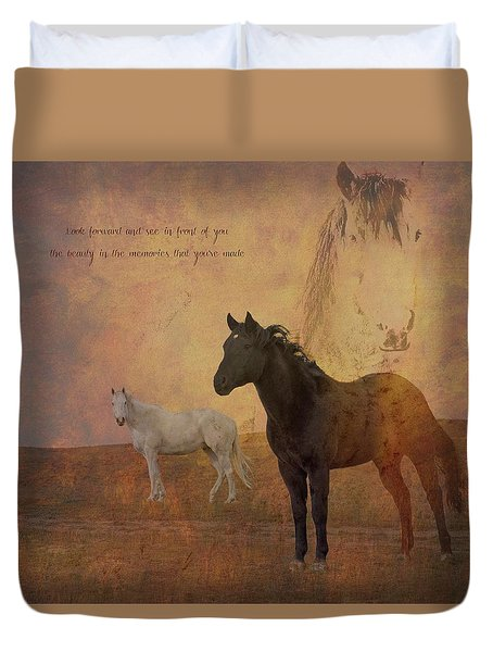 Look Forward Duvet Cover