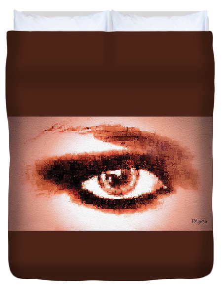 Duvet Cover featuring the digital art Look Into My Eye by Paula Ayers