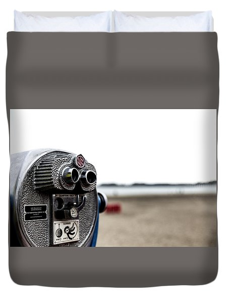 Duvet Cover featuring the photograph Look  by Lora Lee Chapman