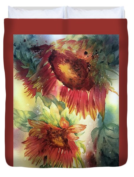 Look On The Sunny Side Duvet Cover