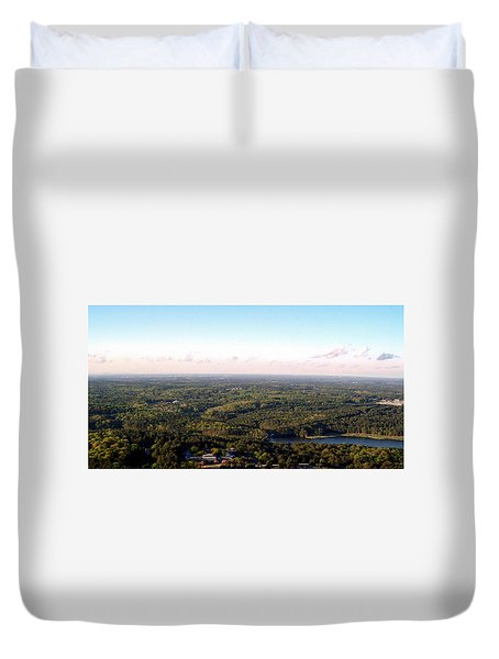 Duvet Cover featuring the photograph Look Out Mountain by Debra Forand
