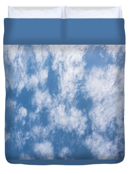 Look Up Not Down Clouds Duvet Cover by Terry DeLuco