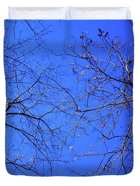 Look Up To The Blue Sky Duvet Cover
