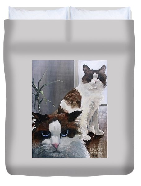 Look Who Is Grumpy Now Duvet Cover by Diane Daigle