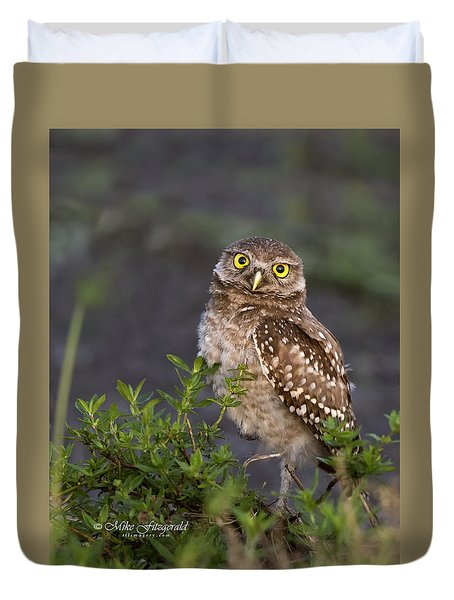 Look Who Is Up Early Duvet Cover